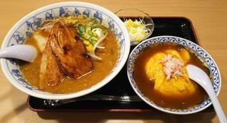 壱力:炙りチャーシューみそラーメン&天津飯0031.jpg